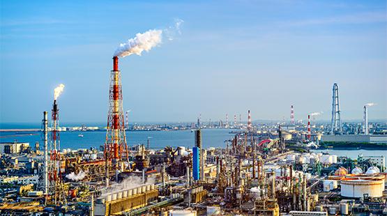 Industrial Area refinerys