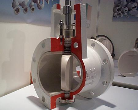 ceramic butterfly valve cutaway