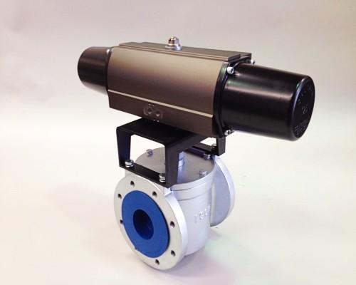 Plug Valve hydraulic actuator