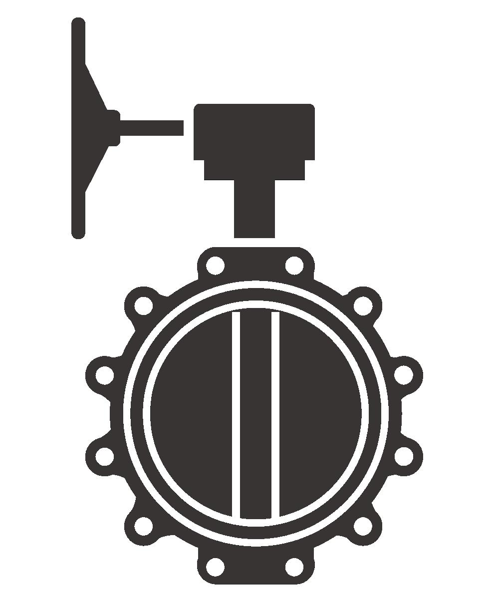 Butterfly valve vector